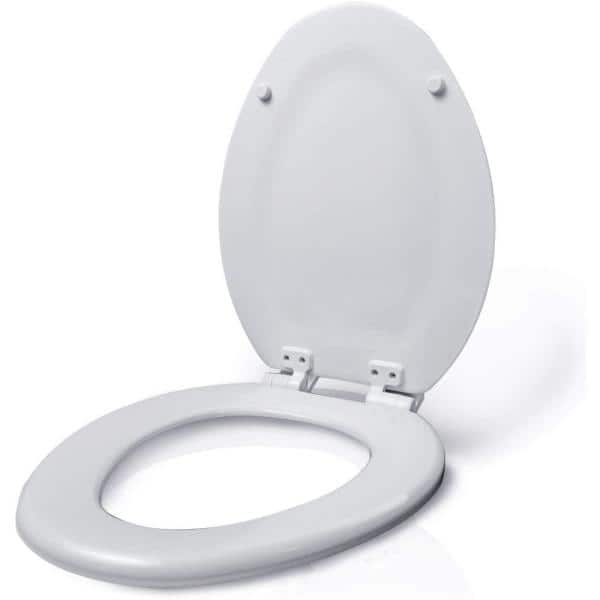 The Plumber S Choice Elongated Molded Wood Closed Front Toilet Seat With Easy Remove Adjustable Hinge In White Ewtsw2 The Home Depot