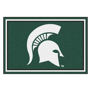 NCAA - Michigan State University Green 8 ft. x 5 ft. Indoor Area Rug