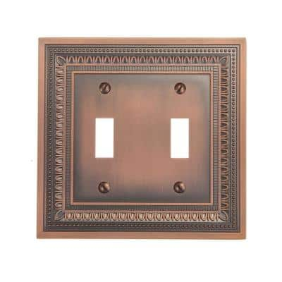 Copper 2-Gang Toggle Wall Plate (1-Pack)