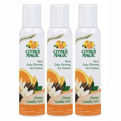 3.5 oz. Orange Vanilla Swirl Natural Odor Eliminating Air Freshener Spray (3-Pack)