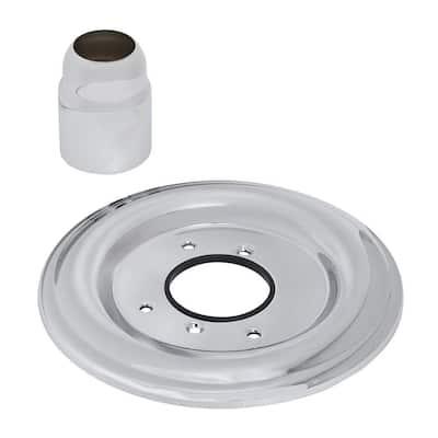 Bath/Shower Escutcheon Kit, Polished Chrome