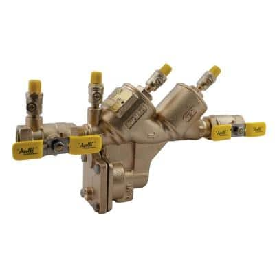 3/4 in. Bronze Lead Free FIP Reduced Pressure Backflow Preventer with Union Shut-Off Valves
