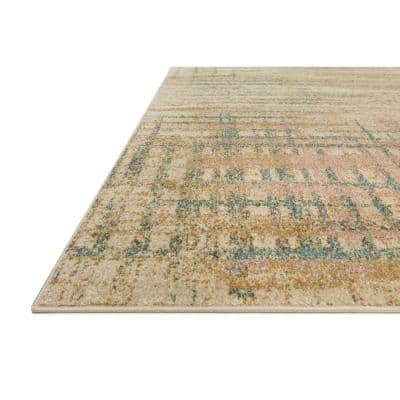 Bowery Beige/Multi 9 ft. 6 in. x 12 ft. 6 in. Contemporary Polypropylene Pile Area Rug