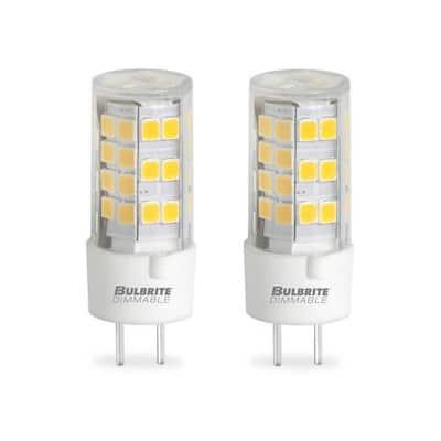 60-Watt Equivalent T4 Non-Dimmable Bi-Pin (GY6.35) LED Light Bulb Warm White Light (2-Pack)