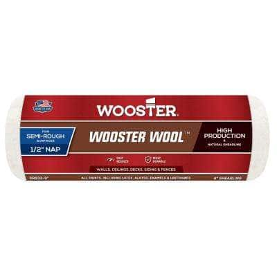 9 in. x 1/2 in. High Density Pro Wool Roller Cover