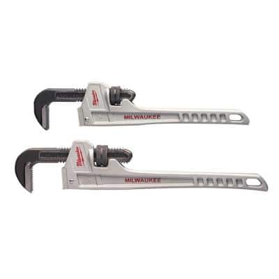 14 in. and 18 in. Aluminum Pipe Wrench Set (2-Tool)