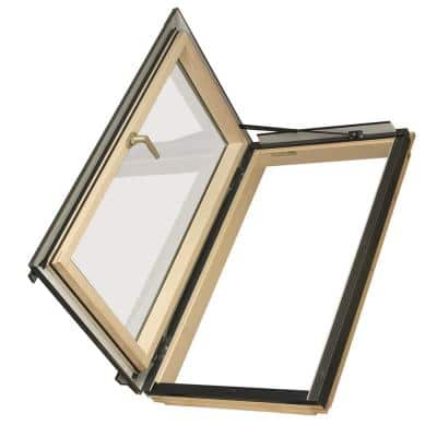 Egress Window 22-1/2 in. x 45-1/2 in. Venting Roof Access Skylight with Tempered Glass, LowE and Flashing Included