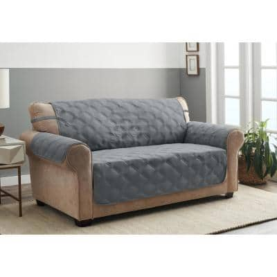 Hampton Stone 1-Piece Diamond Secure Fit Sofa Furniture Cover