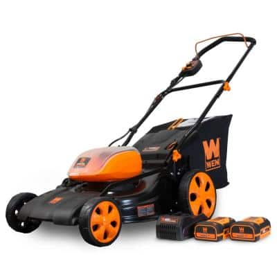 19 in. 40-Volt Max Lithium-Ion Cordless Battery 3-in-1 Walk Behind Push Lawn Mower - Two Batteries/Charger Included