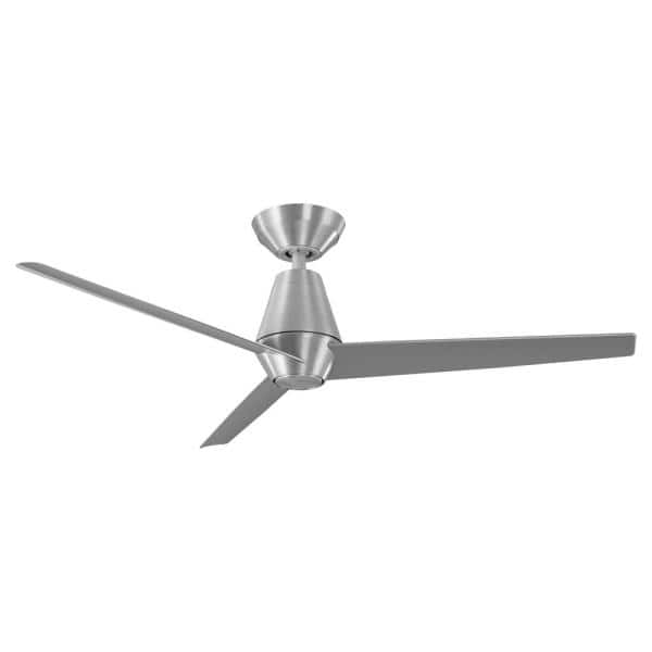 Modern Forms Slim 52 In Integrated Led Indoor Outdoor Brushed Aluminum 3 Blade Smart Ceiling Fan With Light Kit And Remote Control Fr W2003 52l Ba The Home Depot