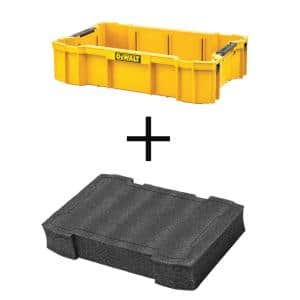 TOUGHSYSTEM 2.0 Deep Tool Tray with TOUGHSYSTEM 2.0 Deep Foam Tool Drawer Liner Insert