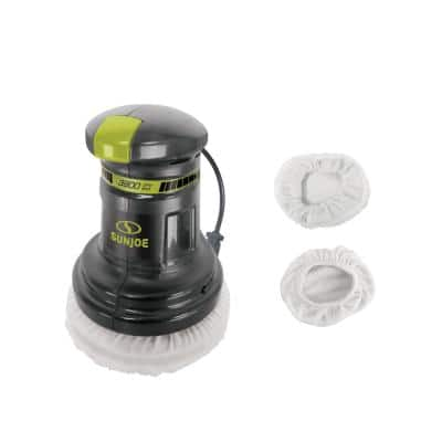 Random Compact Orbital Corded Electric 6 in. Buffer Polisher Waxer with 8 in. Buffer and Polishing Bonnet