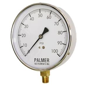 4.5 in. Dial 100 psi Stainless Steel Case Contractor Gauge