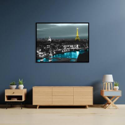 """""""Paris"""" by Revolver Ocelot Framed Canvas Wall Art"""
