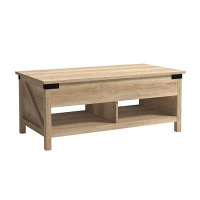 Bridge Acre 46.181 in. Orchard Oak Rectangle Engineered Coffee Table with Lift-Top