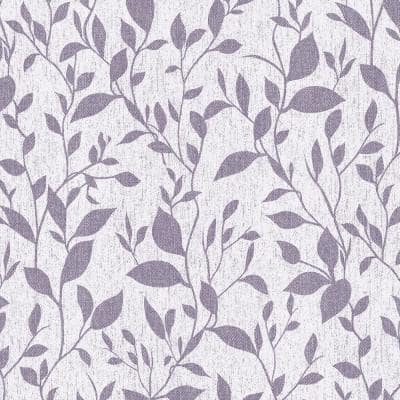 Leaves Texture Lilac-Purple Vinyl Non-Woven Strippable Roll Wallpaper Covers 59.2 sq. ft.