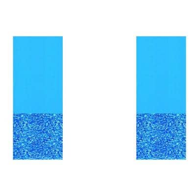 25.5 in. x 7.1 in. Swirl Blue Round 36 ft. Standard Bead Above Ground Swimming Pool Wall Liner (2-Pack)