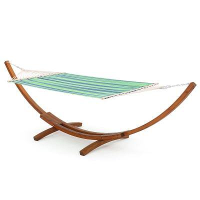 Richardson 13.68 ft. Free-Standing Hammock in Blue and Green Stripe