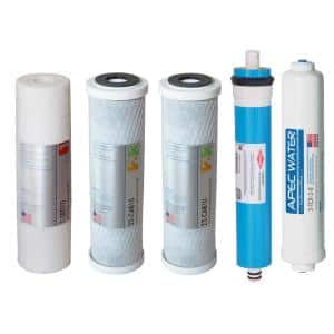 ULTIMATE Complete Replacement Filter Set for 90 GPD Reverse Osmosis System with Upgraded 3/8''D Tubing Quick Dispense