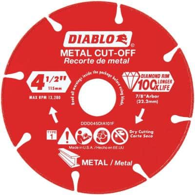 4.5 in. Diamond Wheel for Metal Cutting