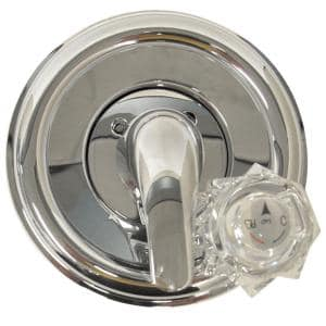 1-Handle Valve Trim Kit in Chrome for Delta Tub/Shower Faucets (Valve Not Included)