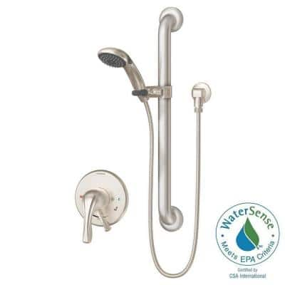 Origins Temptrol 1-Spray Handshower in Satin Nickel (Valve Included)