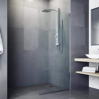 Orchid 39 in. 2-Jet High Pressure Shower System with Fixed Rainhead and Handheld Dual Shower in Stainless Steel