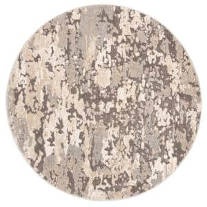 Spirit Taupe/Gray 7 ft. x 7 ft. Round Area Rug