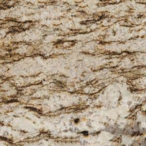 3 in. x 3 in. Granite Countertop Sample in Bianco Lucre