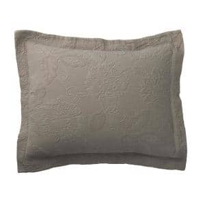 Putnam Matelasse Stone Cotton Decorative Sham
