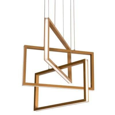 Cole 36-Watt Integrated LED Gold Pendant with Acrylic Shade