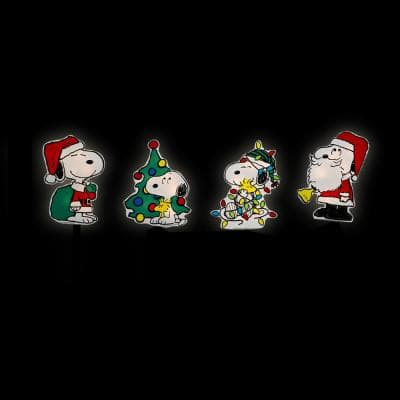 12 in. Peanuts LED Snoopy Lighted Christmas Pathway Markers