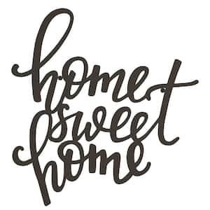 ''Home Sweet Home'' Metal Cutout Sign