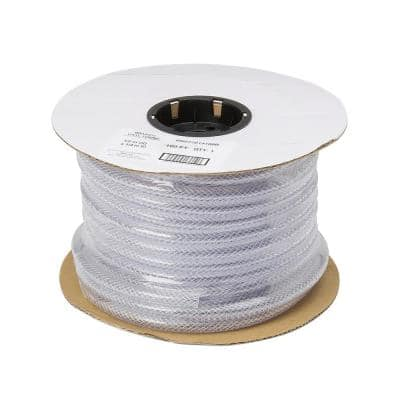 1/2 in. O.D. x 1/4 in. I.D. x 250 ft. Braided Clear Vinyl Tubing