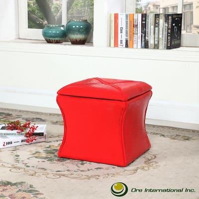 Red Croc Svelte Storage Seating