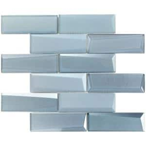 Wister Slate 12.14 in. x 12.53 in. 12mm Polished Glass Mosaic Wall Tile (1.06 sq. ft. per Sheet)