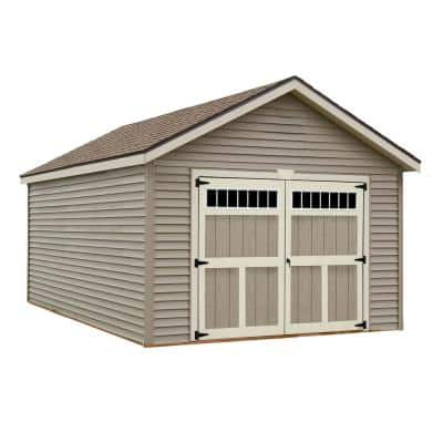 Weston 12 ft. x 20 ft. Prepped for Vinyl Garage Kit without Floor