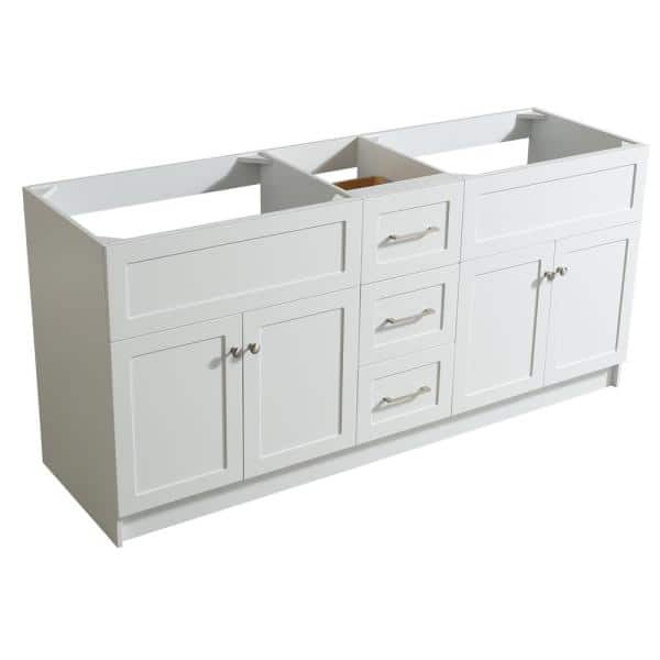Ariel Hamlet 72 In W X 21 5 In D X 33 5 In H Bath Vanity Cabinet Only In White F073d Bc Wht The Home Depot