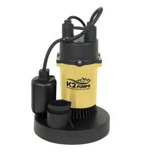 1/4 HP Sump Pump with Direct-In Tethered Switch