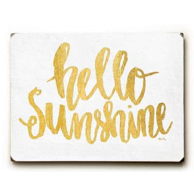 """9 in. x 12 in. """"Hello Sunshine"""" by Misty Diller Solid Wood Wall Art"""