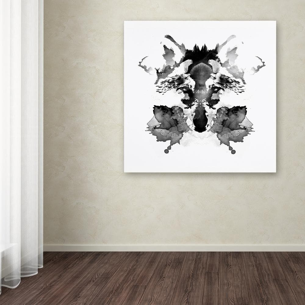 Trademark Fine Art 35 In X 35 In Rorschach By Robert Farkas Printed Canvas Wall Art Ali2248 C3535gg The Home Depot