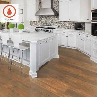 Outlast+ 6.14 in. W Ginger Spiced Pine Waterproof Laminate Wood Flooring (16.12 sq. ft./case)