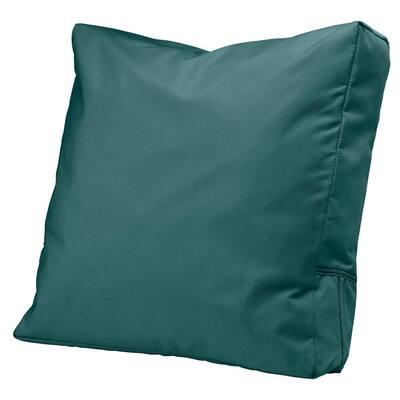 Ravenna 21 in. x 20 in. x 4 in. Outdoor Lounge Chair/Loveseat Back Cushion in Mallard Green
