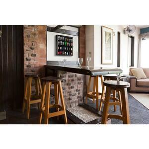 Shot Glass Case 19 in. W x 3.5 in. D Black Decorative Shelf