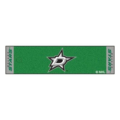NHL Dallas Stars 1 ft. 6 in. x 6 ft. Indoor 1-Hole Golf Practice Putting Green