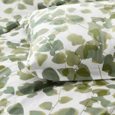 Legends Hotel Greenery Cotton and TENCEL Lyocell Multicolored Sateen Sham