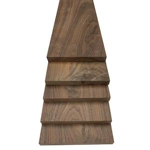 1 in. x 8 in. x 2 ft. Walnut S4S Board (5-Pack)
