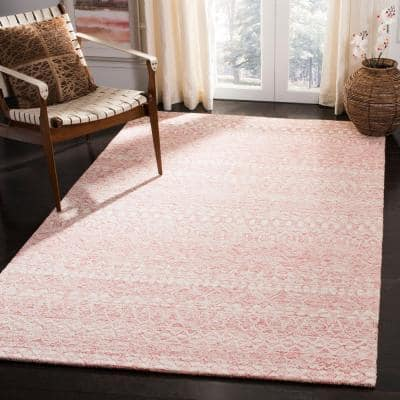 Micro-Loop Pink/Ivory 8 ft. x 10 ft. Geometric Area Rug