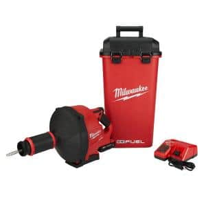 M18 FUEL 18-Volt Lithium-Iron Cordless Drain Cleaning Snake Auger with 5/16 in. Cable Drive Kit