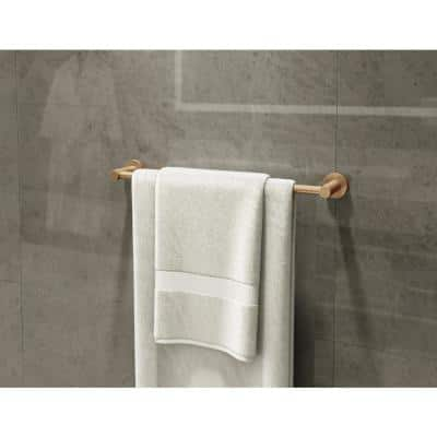 Dia 24 in. Wall-Mounted Towel Bar in Brushed Bronze
